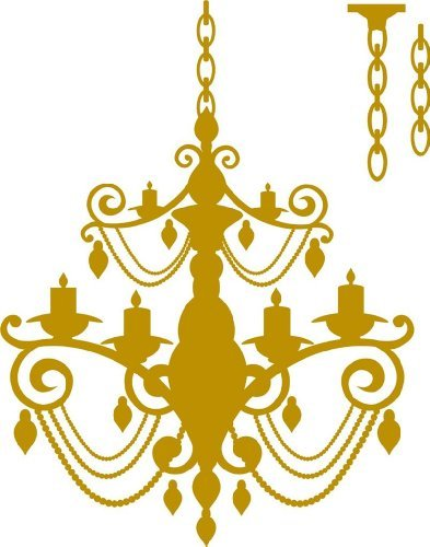 Chandelier Extra Chain Picture Art - Living Room – Home Decor Sticker - Custom Vinyl Lettering Wall Decal Mural Art Graphic Designs Size : 21 Inches X 24 Inches - 22 Colors Available