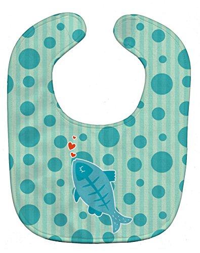 Fish Bib - Caroline's Treasures Polkadot Baby Bib, Fish, Large