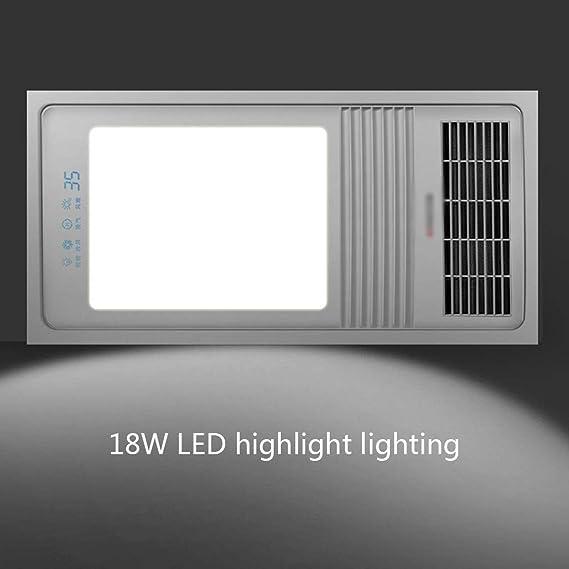 Xinjin Techo Baño Calentador Extractor de iluminación y de combinación del Ventilador, baño de calefacción y ventilación, oscilante del Viento/Digital de la Temperatura Pantalla LED: Amazon.es: Hogar
