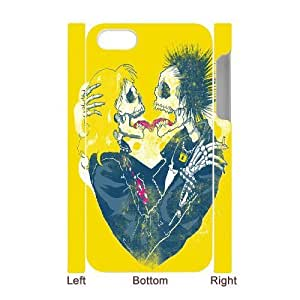 3D Bloomingbluerose Sex Pistols IPhone 4/4s Cases Sex Pistols Sid And Nancy Skull Lover, Cute Design Sex Pistols, {White}