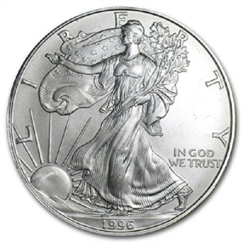 1996 American Silver Eagle .999 Fine Silver Dollar Uncirculated US Mint with Our Certificate of - Silver 1996 Eagle Coin American