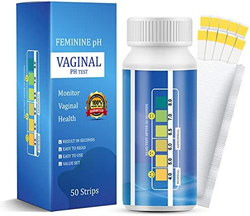 50 Strips-Vaginal pH Test Strips, Monitor pH Balance Vaginal Health, Feminine pH Test, Accurate Acidity & Alkalinity Balance, Test Before Yeast Infection Treatment or BV