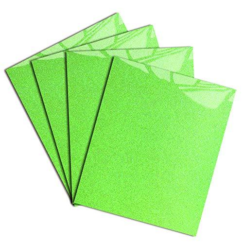 Neon Green Glitter Heat Transfer Vinyl DIY HTV for T-Shirt 12