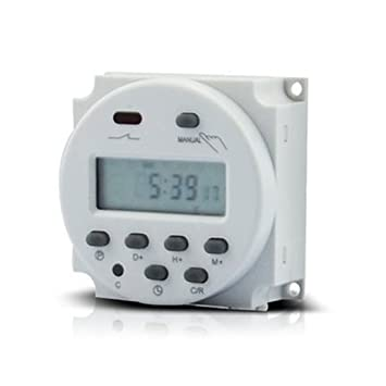 ulable Digital LCD Potencia Temporizador Programable Interruptor de tiempo del relé temporizador para exteriores (DC12