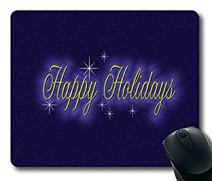 Happy Holidays DIY Design Custom Mouse Pad Gaming Mousepad in 220MM*180MM*3MM -214087