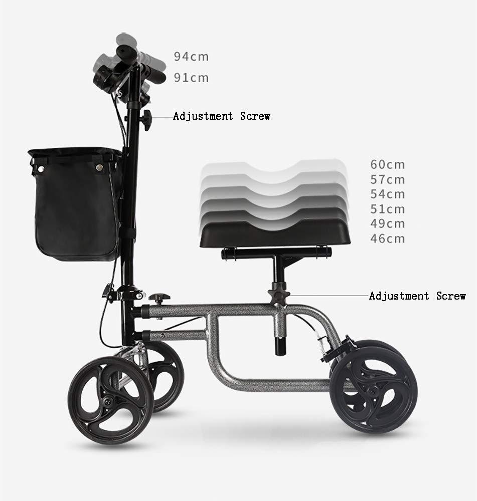 HSRG - Andador de Rodilla Plegable con Sistema de Freno muleta de ...
