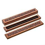 線香立て 線香皿 花榈木製(カリン) 横置き 線香炉 仏壇 袈印堂