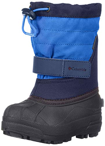 Columbia Childrens Powderbug Plus Winter Boot (Toddler/Little Kid), Collegiate Navy/Chili, 13 M US Little Kid