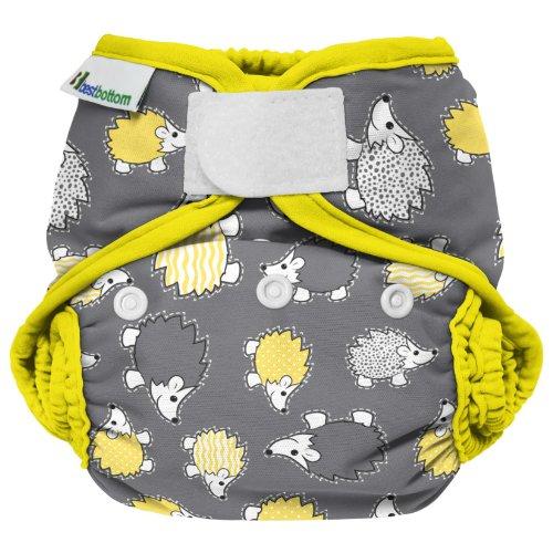 Best Bottom Cloth Diaper Shell - Hook & Loop - Hedgehog
