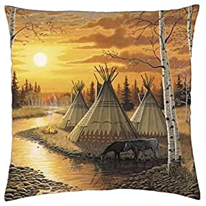 RED RIVER - Throw Pillow Cover Case (18