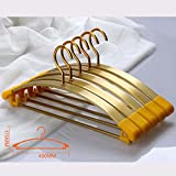 Drying Racks Clothes Rack Hanger Widened Section Aluminum Alloy Non-slip Clothes Rack Hangers Metal Clothes Hanger Clothing Support Household Adult Without Traces (Color : Gold)