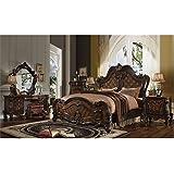 Amazon.com: ACME Versailles Bedroom Set with Queen Bed, Nightstand ...
