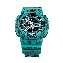 FODONG Mens Sport Watch Dual Display Time Water Resistant Sports Watch Multifunction Casual LED Electronic Wristwatches with Silicone Band Back Light Alarm Blue