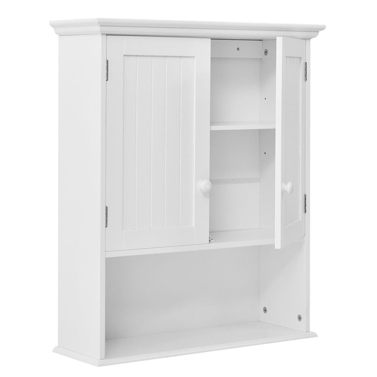 GentleShower Bathroom Medicine Cabinet Wall Mount Kitchen Storage Organizer Shelf Shelves
