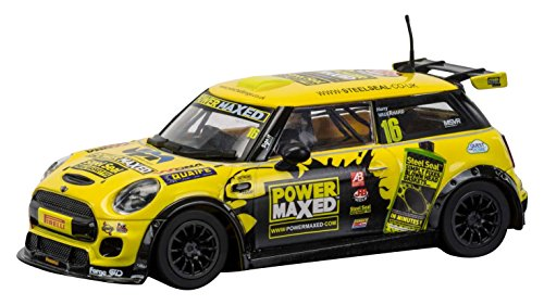 Scalextric C3742 BMW Mini Cooper F56 Power Maxed Challenge 2015 Slot Car (1: 32 Scale)