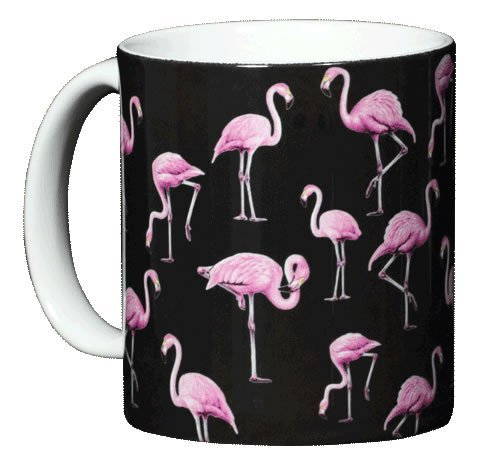 WILD COTTON Flamingos 11 Ounce Ceramic Coffee Mug