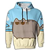 70740 food processor - Cat Walking On The Beach colorful Funny Drawstring Sweatershirt