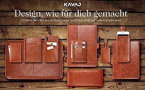 Cadeau de Mariage KAVAJ Porte-Cl/és en Cuir Prague Coeur Cognac-Marron avec Gravure Copine Femmes et Hommes Porte-Clefs avec Anneau Copin Cadeau Partenaire Anniversaire