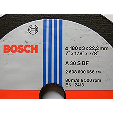 Bosch AG7 Metal 7-inch Cut Off Wheel Set (Multicolor, Pack of 5) 6