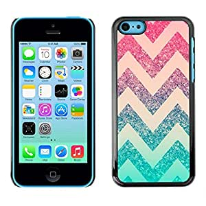 Design for Girls Plastic Cover Case FOR iPhone 5Cs Chevron Pink Mint Green Pattern Stars OBBA