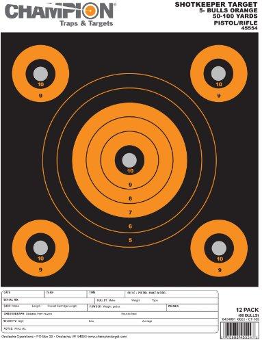 (Champion Shop keeper 5-Bulls Target - Pack of 12 (Large, Orange))