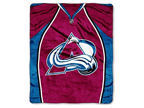 The Northwest Company Officially Licensed NHL Colorado Avalanche Jersey Plush Raschel Throw Blanket, 50