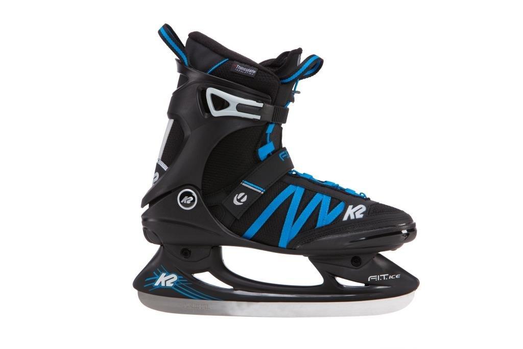 K2 Skate F.I.T Ice Pro Skates, Black/Blue, Size 9