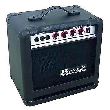 Dimavery 26363005 BA-15 - Amplificador para bajo (15 W), color negro