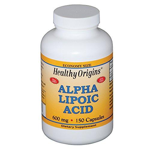 Healthy Origins, Alpha-Liponsäure, 600 mg, 150 Kapseln