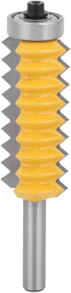 Broca de 8 vástagos, línea de corte tipo fresa Fresadora de madera Broca de carburo conjunta Broca de dientes múltiples Herramienta para trabajar la madera(8 x 55)
