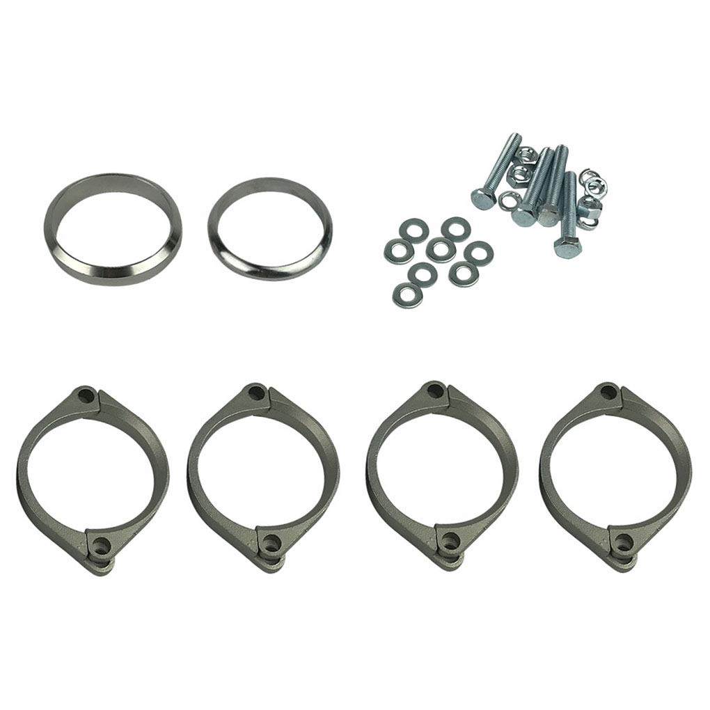 Topker Stainless Steel Exhaust Flange Muffler Back Box Repair Rusted Flange Clamp Kit Replacement for E46 M3 Z4M