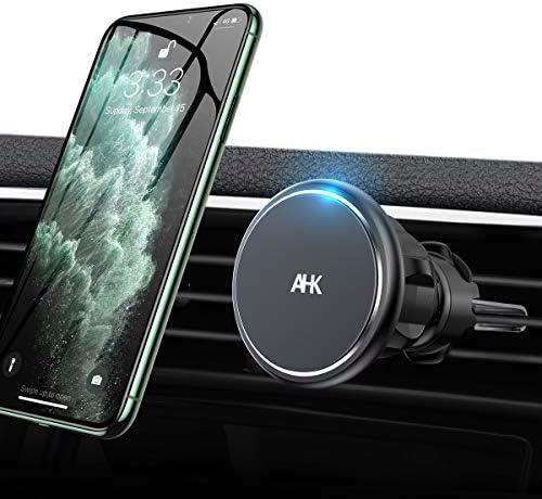 AHK Car Phone Mount Magnetic Phone Car Holder Mount, [4 Strong Magnet] [Upgraded Clip] Magnetic Phone Holder for Car 360° Rotate Vent Car Phone Holder Fit for 4-6.7 inch All Phone & Tablet