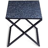 Olee Sleep 22 X-Design Steel Frame End Side / Blue Pearl Granite Top