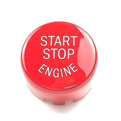 Rot Keenso Start//Stopp-Schalter f/ür den Auto-Motor Knopfdeckel f/ür G F Fahrgestell F20 F21 F22 F23 F30 F31 F32 F33 F10 F11 G30 F12 F13 F01 F02