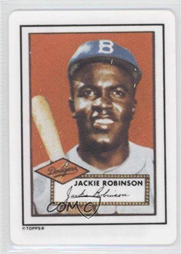 Jackie Robinson (Baseball Card) 1990 R&N China Topps Porcelain Hamilton Collection Dream Team Reprints - [Base] - Porcelain Hamilton