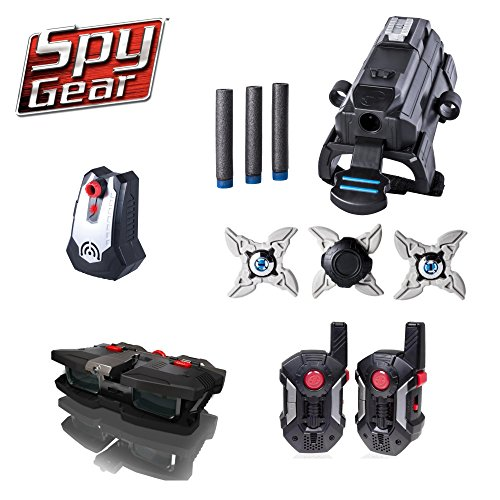 Spy Gear Delta Mission Kit Secret Agent Tool Set 4 - Night Scope, Walkie Talkes, Wrist Blaster, Ninja Stars & Motion Alarm