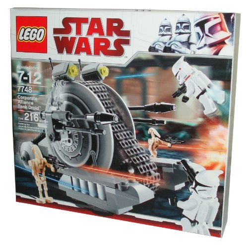 Lego Star Wars Series Battle Pack Set # 7748 - Corporate Alliance Tank Droid with 2 Battle Droid and 2 Jet-Pack Equipped Clone Troopers Minifigures (Total Pieces: 216)