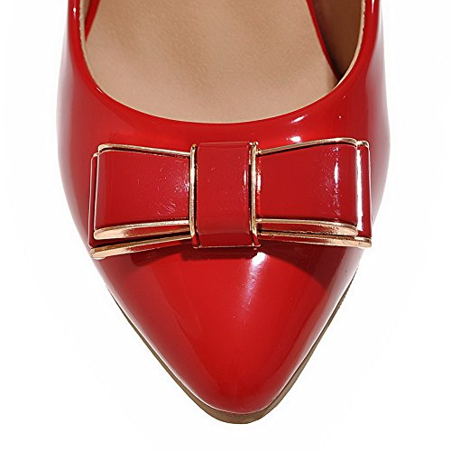 Unie Verni Pointu Couleur Femme L Stylet Tire Agoolar Chaussures 6UBxS