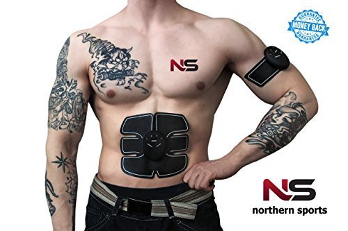 NORTHERN SPORT ABS Stimulator - Abdominal Muscle Toner - Muscle Trainer - Abdominal Toning Belt - Ultimate Abs Stimulator - Abdominal Trainer for Men, Women by Northern Sport
