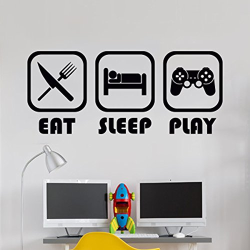 Eat Sleep Play Habitación de los niños Etiqueta de La Pared ...