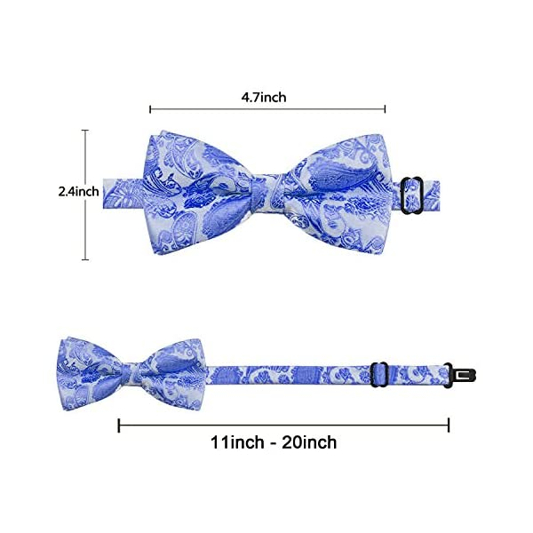 """YOY Handcrafted Adorable Pet Bow Ties - 6-Pack Adjustable Neck 11""""-20"""" Paisley Bowties Dog Collar Neckties Kitty Puppy Grooming Accessories for Doggy Cat, 6 Colors 4"""