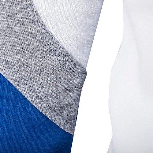 Patchwork Con Felpa A Outwear Cappotto Maniche Uomini ❤abcone Casuale Da Parka Uomo Lunghe Bianco Cappotti Giacca Lungo UIxqzHv
