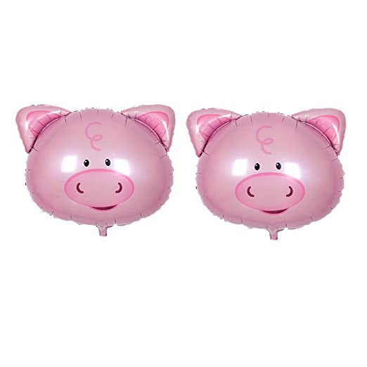 Toyvian balón Cerdo balón de Cerdo Peppa, 2pcs Animales balón de ...