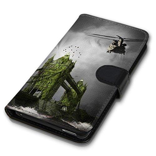 Wallet Book Style Flip Handy Tasche Case Schutz Hülle Schale Motiv Etui für Apple iPhone 6 / 6S - Design Flip MV218