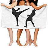 HXXUAN Muay Thai Silhouette Quick-drying Bath Towels Beach Towel Adult Travel