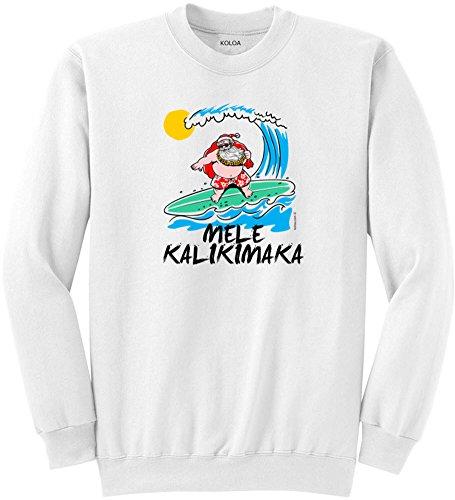 Koloa Surfing Santa Claus Logo Crewneck Sweatshirt USA-White/c-3XL