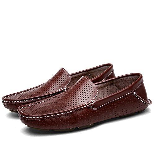 Zapatos Holgados De Tacón Plano Con Tacón Plano Y Zapatos De Tacón Plano Shenn Hombres Hollow Brown