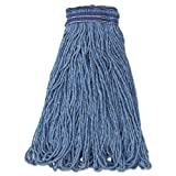 Rubbermaid Commercial Swinger Loop Wet Mop Head, X-Large, Cotton/Synthetic, Blue, 6/Carton