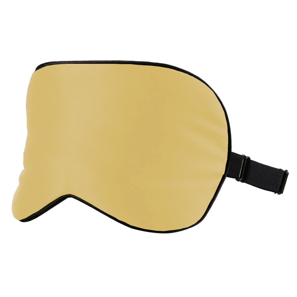 100% Silk Sleep Mask Super-Smooth Comfortable Eye Mask & Blindfold with Adjustable Strap (Champagne) by Bulase (Image #3)