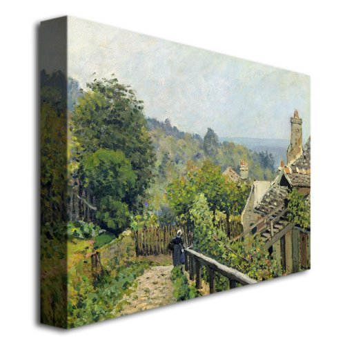 Louveciennes 1873 by Alfred Sisley, 14×19-Inch Canvas Wall Art